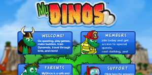 Gioco online per bambini: MyDinos
