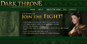 Dark Throne, gioco con Goblin ed Elfi.
