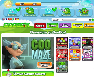 Goobox è una sala giochi online dentro facebbok!