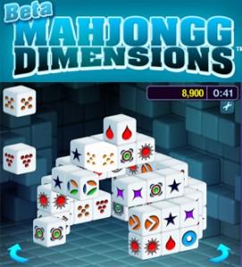 Mahjongg Dimensions, gioco online in 3d su Facebook.