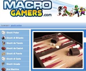 Su Macro Gamers è giochi da tavolo, scommesse, biliardo, bowling, è proprio una bisca online!