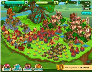Treetopia, fai crescere il tuo villaggio e il grande albero.