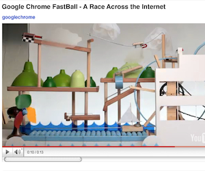 Google Chrome Fastball, gioco su youtube!