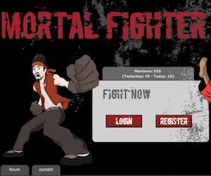 Mortal fighter, un gioco di combattimento manageriale online.