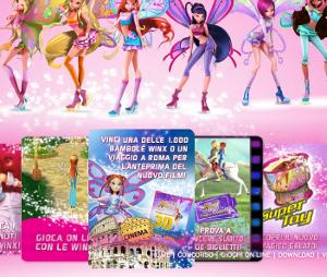 Giochi delle winx, online sul sito Algida.