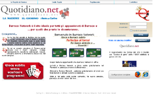 Burraco online su Quotidiano.net