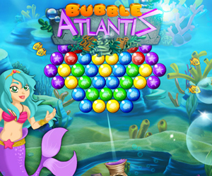 Bubble Atlantis, puzzle game stile Puzzle Bobble
