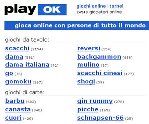 Play Ok, giochi da tavolo, di carte in multiplayer!