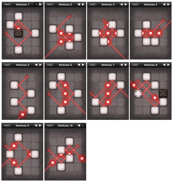 Lazors: Soluzioni Vertices