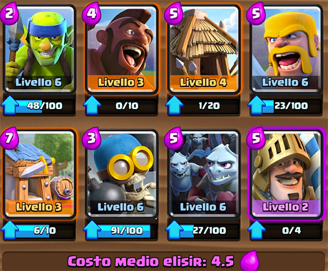Deck ideal to use in Arena 4 - Clash Royale